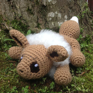 Pokemon Inspired: Eevee Amigurumi (Crochet Plushie/Plush Toy) - READY TO SHIP!