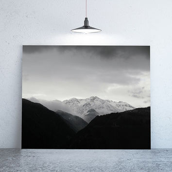 """40"""" x 30"""" - Nature Photography, Large Print of Rodengo, Black and White"""