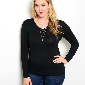 Simple Plus Size Sweater