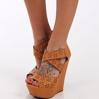 The Flora Wedge, Tan
