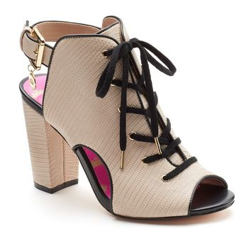 Juicy Couture Women's Lace-Up Peep-Toe High Heels