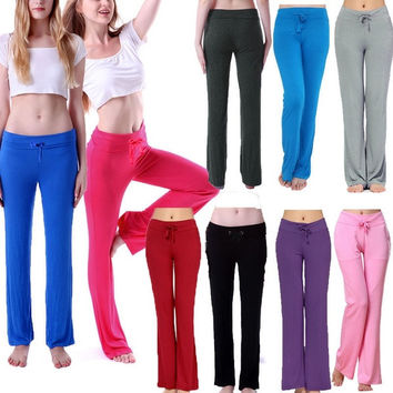 Candycolor Womens Cotton Spandex Yoga Sport Sweat Gym Sports Pants Leggings M/L = 5697858113