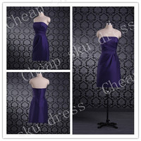 Style Strapless A-line Chiffon Bridesmaid /Party / Evening /Prom / Formal Dresses Custom Made New Design Sweetheart Lace-up Sexy Dresses