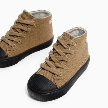FABRIC HIGH-TOP SNEAKERS