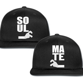 saul mate mickey hand heart couple matching snapback cap