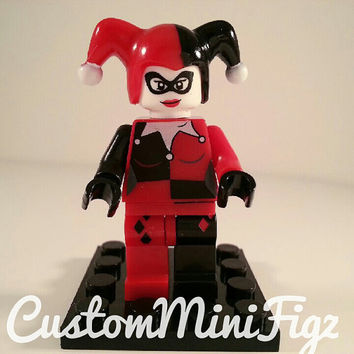 Custom Harley Quinn Minifigure • Lego Size • Super Heroes • DC Comics • Lego Super Heroes • Lego Minifigure • Birthday Gift • Party Toys