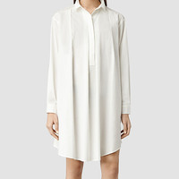 Womens Lana Shirt Dress (Optic) | ALLSAINTS.com