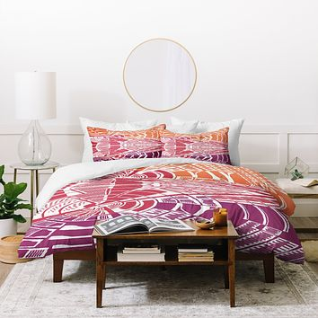 Karen Harris Post Modern Hot Duvet Cover