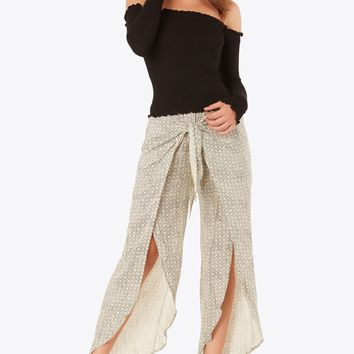 Wrap Life Slit Pants