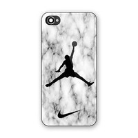 NIKE AIR JORDAN White Marble Print On Hard Plastic For iPhone 6/6s, COVER CASE