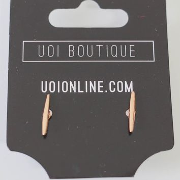 On The Line Earrings - Rose Gold