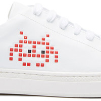 White Space Invader Tennis Sneakers
