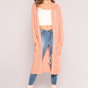 Abella Duster Sweater - Mauve