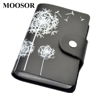 2017 Genuine Leather Print Women Business Card Holder 11 Colors ID Card Credit Card Holder Protector Organizer Card Wallet DC57