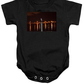 Blue Heron Night - Baby Onesuit