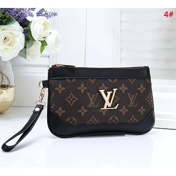 LV Fashion New Monogram Pprint Clutch Wallet Purse 4#