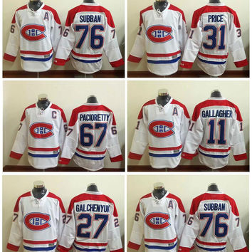 2016 Lace Front #31 Carey Price Montreal Canadiens 11 Gallagher 76 Subban Ice Winter Hockey White Jersey 26 Gorges 67 Pacioretty