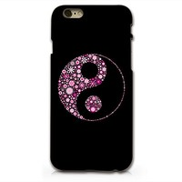 Supertrampshop - Floral Yin Yang - Cover Iphone 6 Full Protection Durable Hard Plastic Phone Case