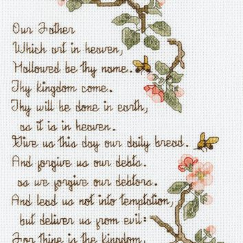 "The Lord's Prayer Counted Cross Stitch Kit 5.5""X10"" 14 Count"