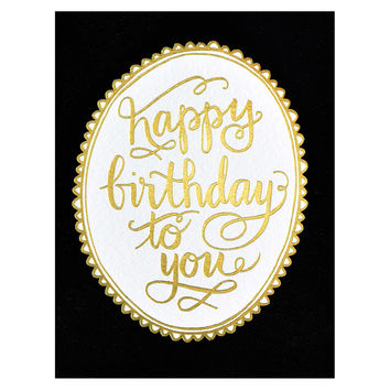 Birthday Gold Foil Greeting Card