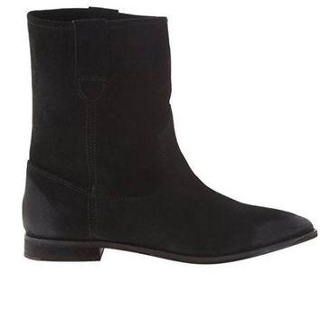 CREYONIG Matisse Coconuts Jed - Black Flat Pull-On Western Style Boot