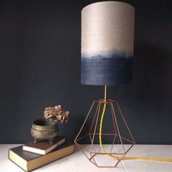 Grey Silk Ombre Lamp