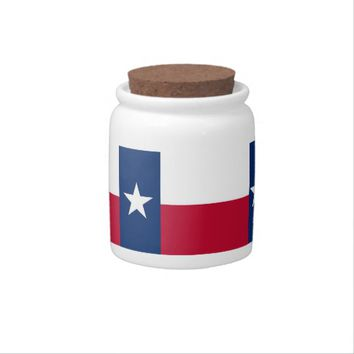 Texas State Flag Candy Jar