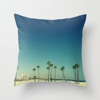 Summer Beach Blue Throw Pillow by RichCaspian