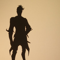 Handsome Jack Borderlands Hand Cut black silhouette papercut