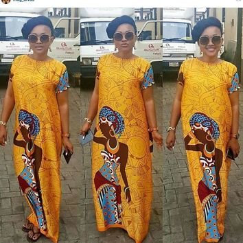 African casual clothing plus size bazin riche robe party sexy gowns maxi long dress summer femme vestidos