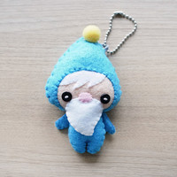 Felt Keychain -  stocking stuffer -  cute accessories -  Kawaii - Gnome plush - READY TO SHIP