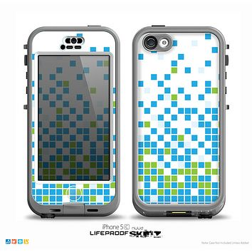 The Green and Blue Mosaic Pattern Skin for the iPhone 5c nüüd LifeProof Case