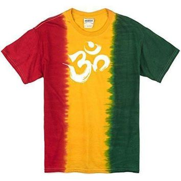 Yoga Clothing for You Mens Rasta Brushstroke AUM Tee Shirt