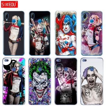 Silicone Cover Phone Case For Huawei P20 P7 P8 P9 P10 Lite Plus Pro 2017 P Smart Harley Quinn Suicide Squad Joker