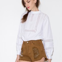 Pauline Crochet white blouse