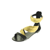 Giuseppe Zanotti Design Womens Leather Metallic Strap Sandals