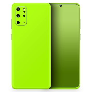 Solid Green V3 - Skin-Kit for the Samsung Galaxy S-Series S20, S20 Plus, S20 Ultra , S10 & others (All Galaxy Devices Available)