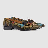 Gucci Floral jacquard loafer