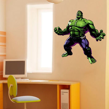 Hulk Decal - Classic Heroes and Super heroes Printed and Die-Cut Vinyl Apply in any Flat Surface- Avengers Incredible Hulk Wall Art Decor
