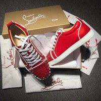Cl Christian Louboutin Low Style #2079 Sneakers Fashion Shoes - Best Deal Online
