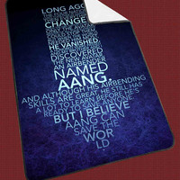 Avatar Arrow Quotes for Kids Blanket, Fleece Blanket Cute and Awesome Blanket for your bedding, Blanket fleece**