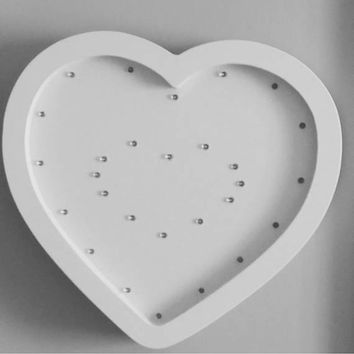 Heart Night Light Nursery night light gift decor kids Marquee lights  Gift Heart light wall decor