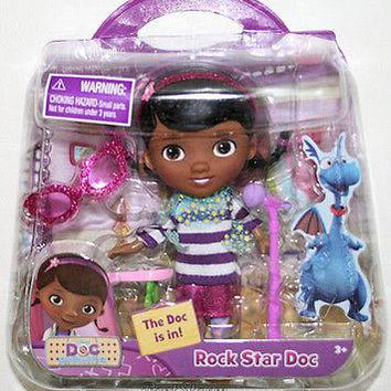 "Licensed cool NEW 5"" Disney JR. Doc McStuffins ROCK STAR DOC Action Figure Toy Music Playset"