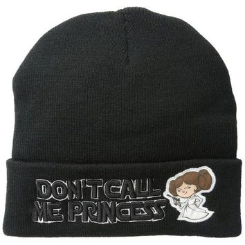 DCCKU3R Star Wars - Don't Call Me Princess Cuff Knit Hat
