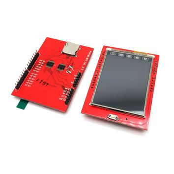 1pcs LCD Module TFT 2.4 inch TFT LCD Screen for Arduino UNO R3 Board Color LCD Shield Socket Touch Panel Module