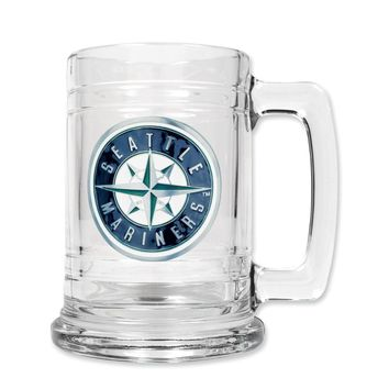 Seattle Mariners 15oz Glass Tankard - Etching Personalized Gift Item