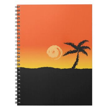 Island Sunset Notebook
