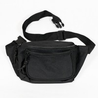 Blank Black Fanny Pack | Rave Gear and Accessories for Music Festivals