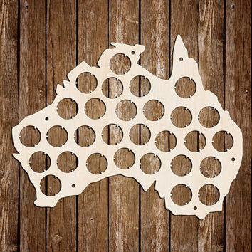 Australia Beer Cap Map Personalized Beer Cap Display Gifts for men Valentines gift Birthday Gift For Dad Fathers Day Gift For Boyfriend
