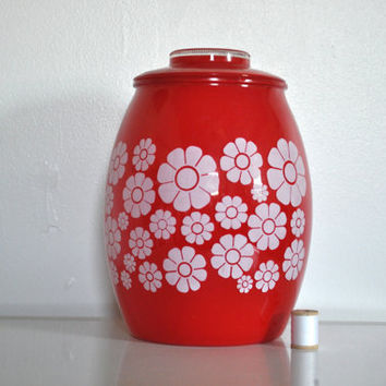 Vintage Bartlett Collins Cookie Jar Groovy Red by thewhitepepper
